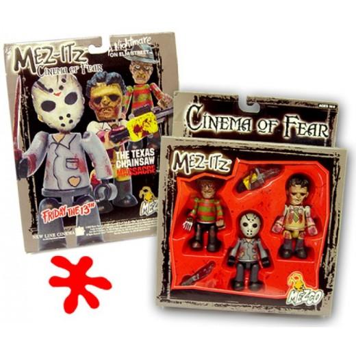 Figuras Cinema of FEAR muñecos JASON, FREDDY Y LEATHERFACE