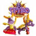 Peluche de Spyro el Dragon del juego de play station 27 cm de largo con patinete