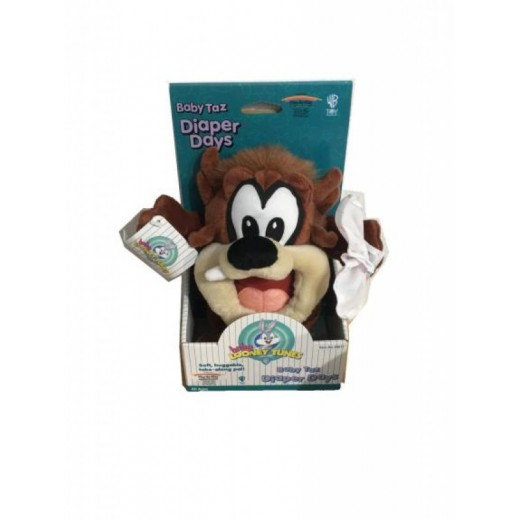 Peluche de Taz Mania Baby Looney Tunes en caja suave mediano 21cm