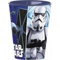 Vaso de Star Wars 260 ml azul fuerza oscuridad Dart Vader stormtrooper plastico