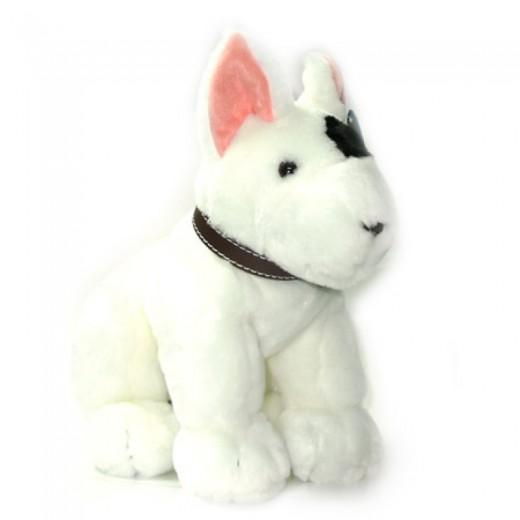 Peluche de perrito Snuffles bull Terrier cachorro suave blanco y negro 22cm