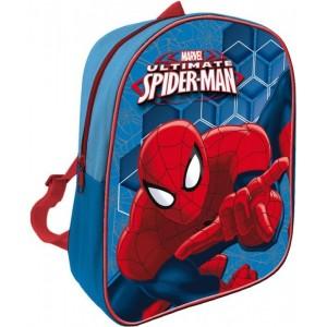 Mochila de Spiderman Ultimate Azul Spider man mochila de guarderia pequeña