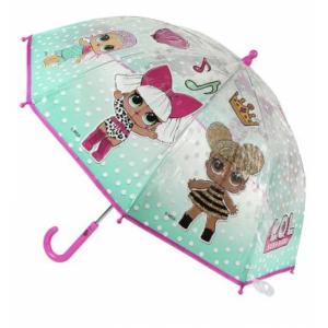 Paraguas Lol Surprise l.o.l. de transparente muñecas lol suprise rosa 45 cms