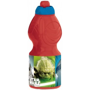 Botella Cantimplora Star Wars con bebedor Sport Roja 400ml Joda stormtrooper