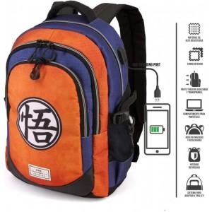 Mochila de Dragon Ball para portatil con usb adaptable a Carro acolchada Grande