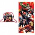 Toalla con saco de Vengadores pack de toalla y mochila saco para piscina playa