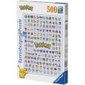 Puzzle de 500 piezas listado de Pokemon los 151 primeros con evoluciones