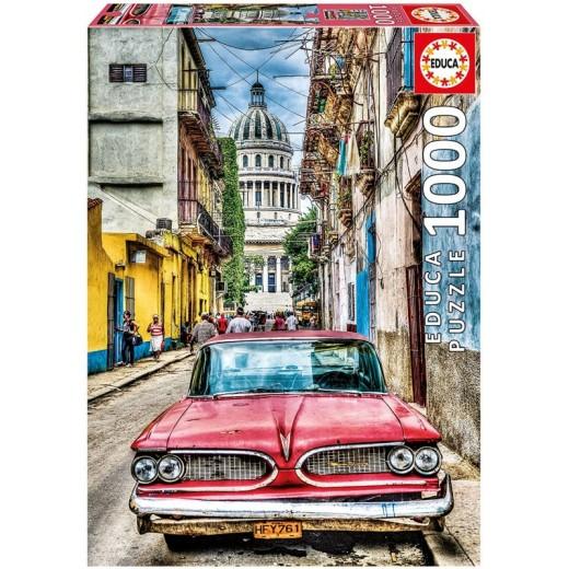 Puzzle de 1000 piezas coche en la Habana Cuba grande con fix pegamento