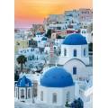 Puzzle de 1000 piezas de Santorini ciudad Italiana casas blancas y azules