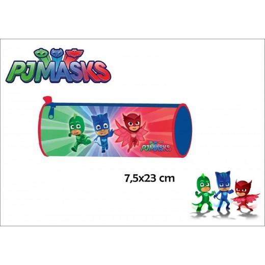 Portatodo estuche de PJ Masks de colores cilindrico PJMasks para colegio