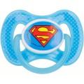 Chupete de Super Man Liga de la Justicia Azul silicona libre de BPA