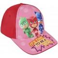 Gorra PjMasks Roja Infantil con dibujos de los 3 personajes de Pj Masks