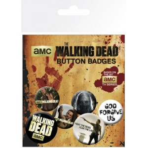 PACK DE CHAPAS THE WALKING DEAD 6 chapa con imperdible para chaqueta moto