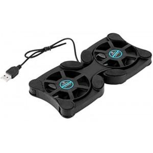 Ventilador para ordenador portátil extensible doble por usb refrigeración