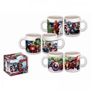 TAZA de cerámica de los vengadores de 320 ml en caja Thor Hulk Iron-man