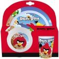Set de Melamina de plato cuenco y vaso de Angry Birds vajilla infantil