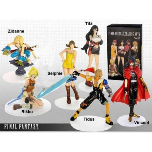 Figuras de Final Fantasy Trading Arts Vol.2 Tidus vincent Tifa 10 cm en caja