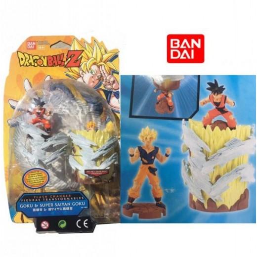 Figura de Dragon ball Z Transformables Goku y Super Saiyan Goku BanDai