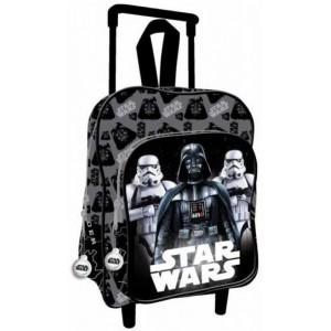 Mochila trolley de Star Wars con carro negra Darth Vader 41 cm