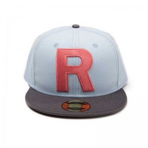 GORRA de POKEMON TEAM ROCKET R GRANDE Snapback Bordado Adulto Snapback