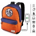 Mochila de Dragon Ball para portatil con usb adaptable a Carro simbolo letras