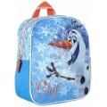 Mochila de Olaf con efecto hielo pequeña 24 cm guardería infantil Frozen azul