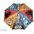 Paraguas de Star Wars con mango manual rojo stormtrooper personajes 45cm