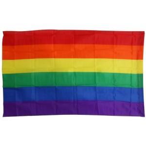 Bandera con colores del arcoiris LGBT Orgullo Gay y Paz Grande de 90 x 150 cm
