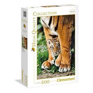 Puzzle cria de Tigre bengala con su madre de 500 piezas