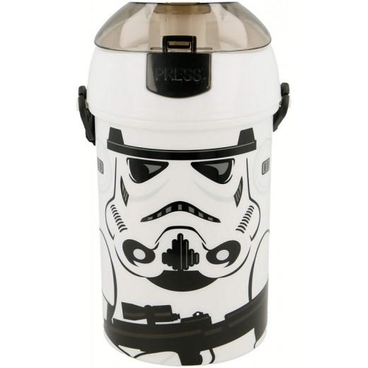 cantimplora de Star Wars Stormtrooper para beber con tapadera automática