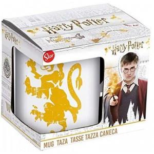 Taza de Harry Potter con emblema gryffindor en caja 325 ml de cerámica desayuno