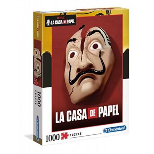 Puzzle mascara partida de la casa de papel de 1000 piezas