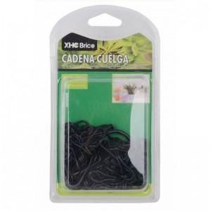 cadena para colgar macetas negra soporte para plantas en techo 60 cm