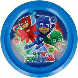 Plato PjMasks Azul de plastico 22 cm Pj Masks plato infantil con dibujos