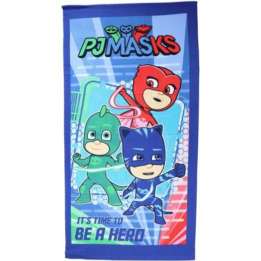 Toalla de PJMaks secado rapido y muy suave 140 x 70 cm azul Pj Masks piscina