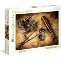Puzzle de 1500 piezas Búsqueda del tesoro piratas Course to the treasure mapa