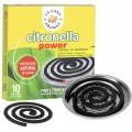 10 Espirales de citronela antimosquitos para exterior anti mosquitos con plato