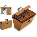 Archivador maletin con 19 Departamentos A4 para documentos folios con asa
