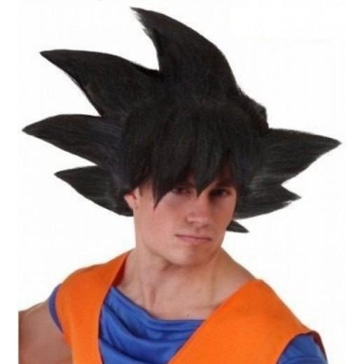 Peluca para Disfraz de Son Goku Dragon Ball Vegeta para Adulto guerrero