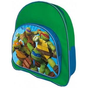 Mochila de las tortugas ninjas con bolsillo externo 35 cm