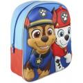 Mochila 3D de la patrulla canina Azul y roja 31cm Marshall y Chase