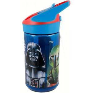 BOTELLA de Star wars personajes con bebedor boquilla TRITAN PREMIUM 480 ML