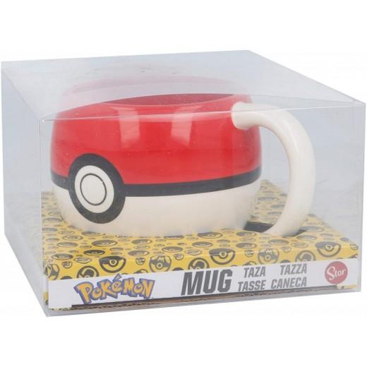 Taza de cerámica de Pokeball rodonda Pokemon Original 3D con asa desayuno