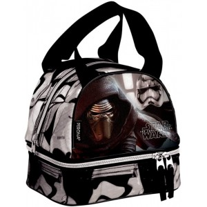 Portamerienda bolsa para almuerzo de Star wars con asa negra trabajo comida