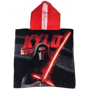 Poncho de Star Wars secado rapido muy save StarWars Kylo negro y rojo algodón