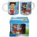 Taza ceramica de la patrulla canina azul personajes de dibujos con caja