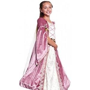 Disfraz de princesa Medieval para niñA infantil vestido Rosa medievales