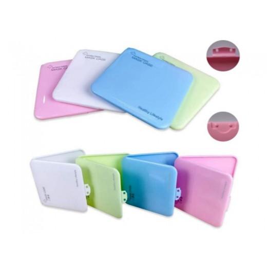 Caja de plastico para guardar la mascarilla con cierre higiénica colores Covid