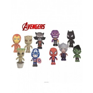 Colección 10 Peluches Vengadores y Guardianes de la Galaxia Marvel 20 cms