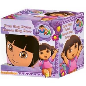Taza cerámica de Dora la exploradora con caja desayuno con dibujos